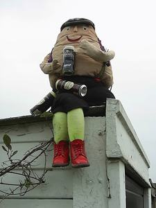Scarecrow as Humpty