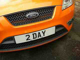 Car with 2DAY reg