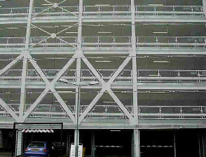 Car park showing structure with car entering.