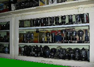Cabinet full of old wireless valves