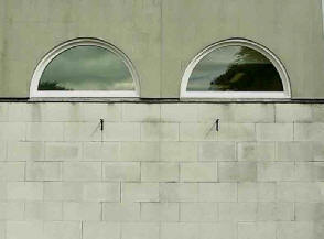 Two semi circular windows.