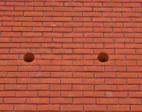 holes in brickwork