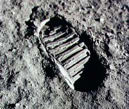 Photo of Neil Armstrong's footprint on the moon.