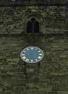 A church clock without any hands